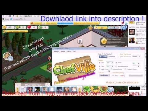Facebook Game Chefville Hack Cheat Engine Tool v3.0 January 2013