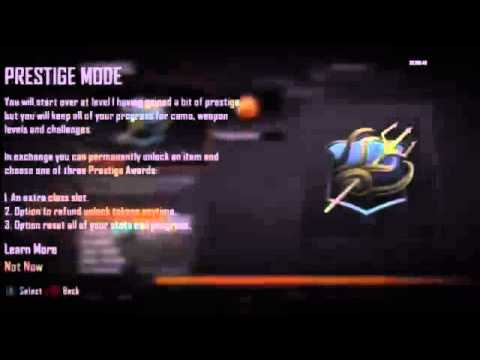 Call of Duty Black Ops 2 10th Prestige Glitch Hack Xbox 360 Ps3 NEW