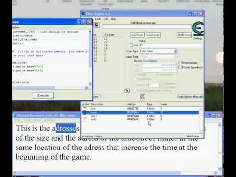Minesweeper Hack Using The Code Finder (Cheat Engine Tutorial)