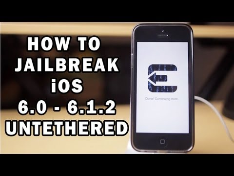 iOS 6 Untethered iPhone 5/4s/4/3GS iPad/iPod (6.0/6.0.1/6.0.2/6.1/6.1 ...