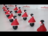 Robots Dance in Synchronization While Balancing on Balls
